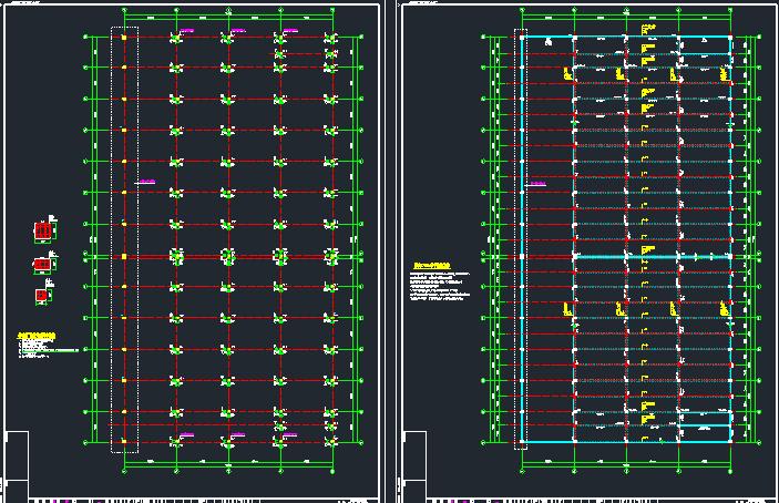 钢混框架结构拼接厂房施工图纸(含建筑结构、给排水)_7