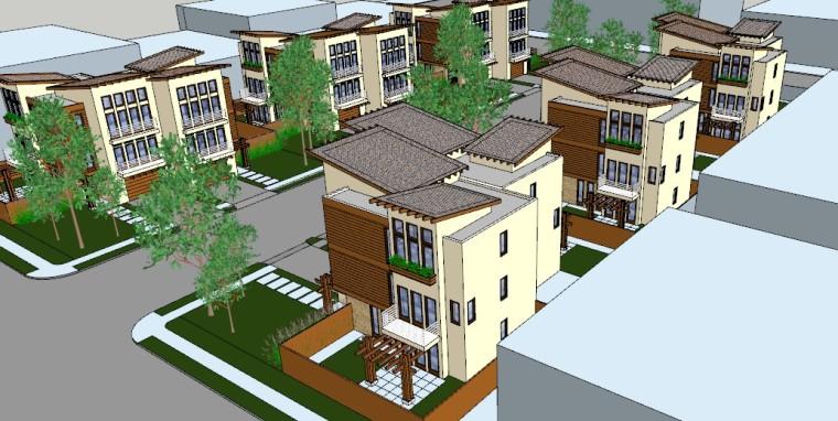 商品房住宅su模型设计-4