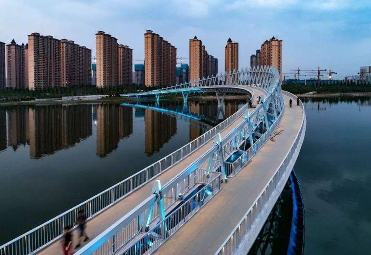 """太原""""汾河之冠""""人行景观桥,尽展结构技艺之美!_7"""