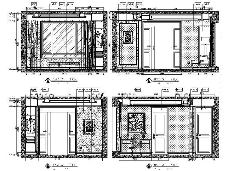 [长沙]欧式低调奢华四居室设计施工图(含效果图)_5