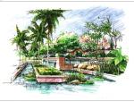 30张手绘景观节点效果图