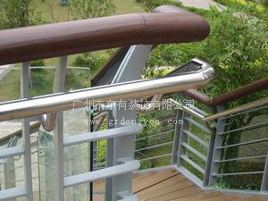 优质立柱厂家 天桥不锈钢木扶手栏杆B_58