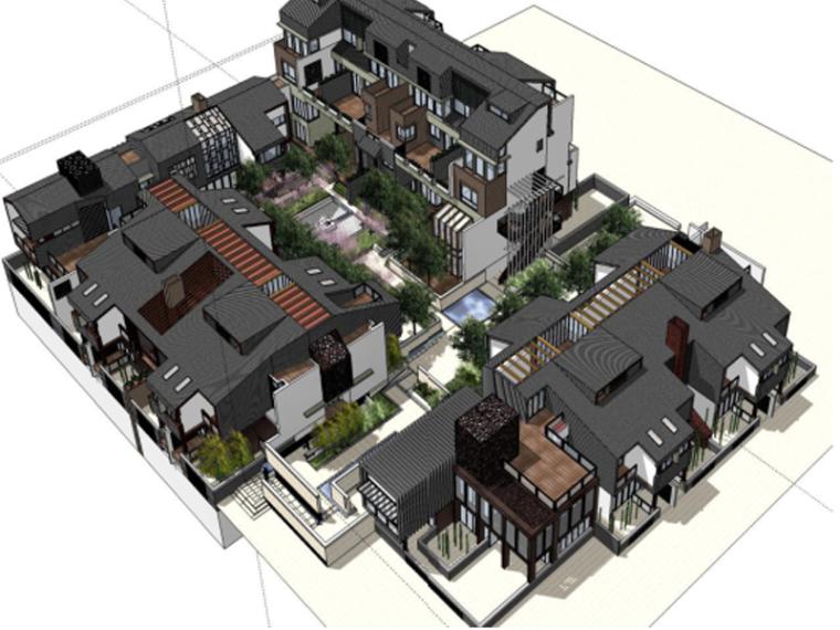 [重庆]龙湖睿城居住区景观规划设计总区方案(新中式,校园景观居住区,含配套CAD)