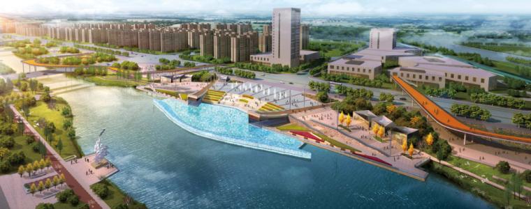 [河南]郑州梅河景观河道规划设计(PDF+128页)-节点效果