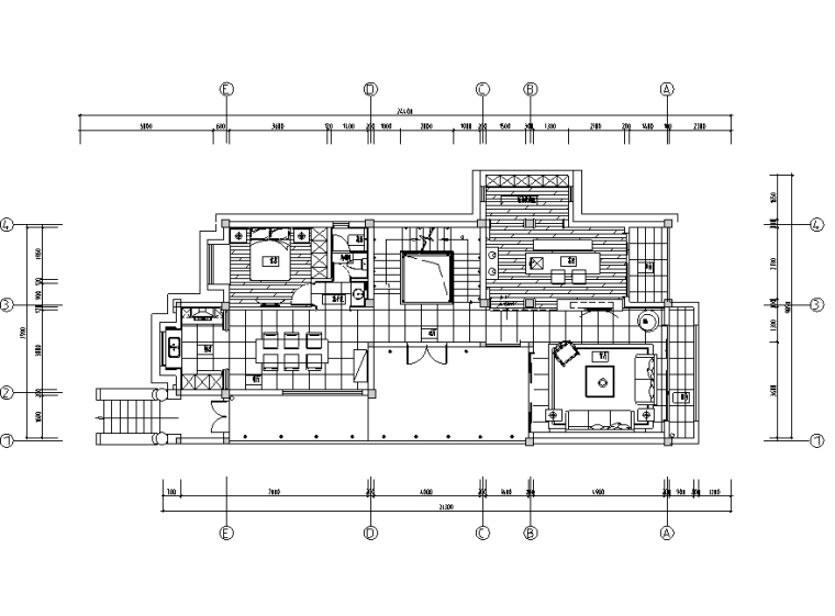 木韵清远|贵谷自然中式风样板房设计施工图(附效果图)