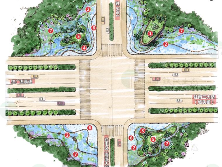 [广东]湛江海东快线概念景观设计(PDF+55页)-平面