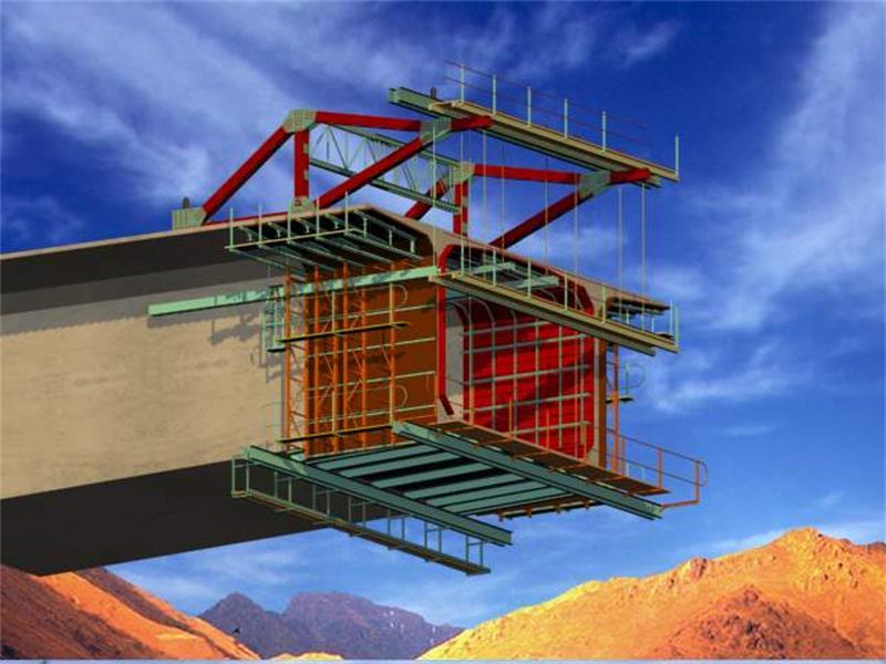 掛籃施工又叫懸臂澆注施工,是連續梁施工工藝的一大進步,克服了受圖片