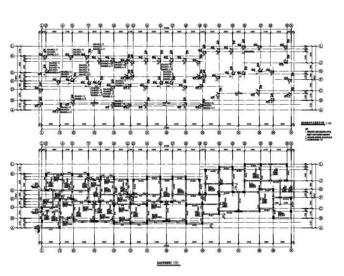 六层带阁楼框架结构住宅楼建筑结构施工图