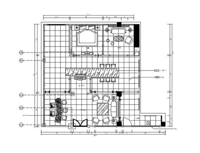 [福州]混搭风格展厅室内设计施工图(含实景图)