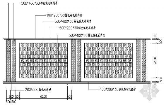 铺装样式平面图