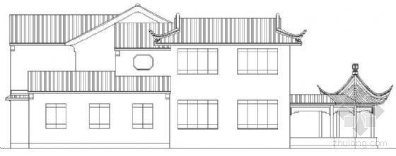 某二层古建别墅建筑方案(三)