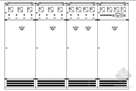 低压接线系统图及柜面布置图