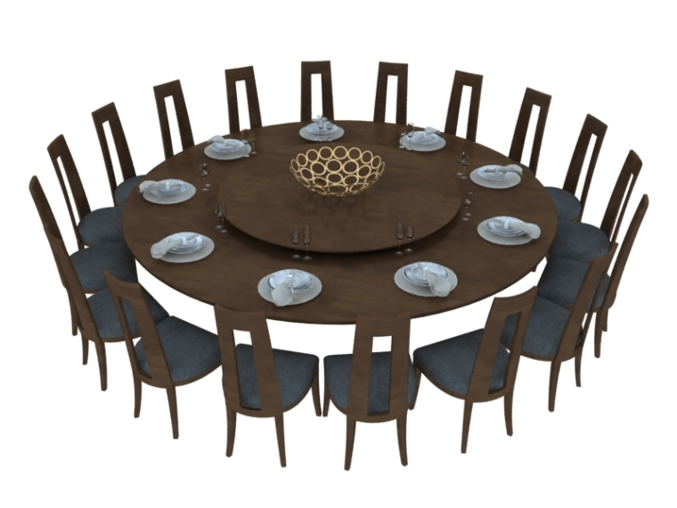 圆形餐桌3D模型下载-圆形餐桌