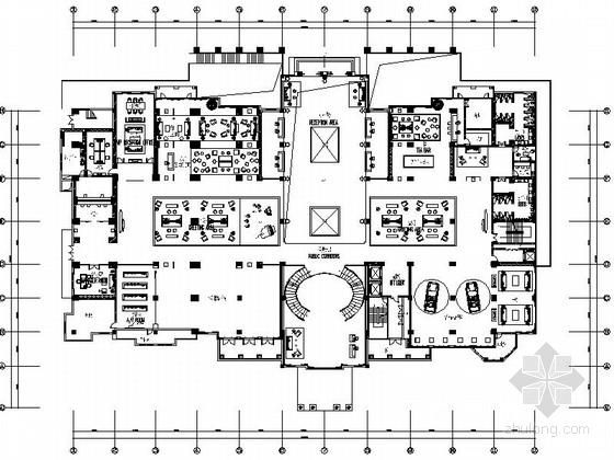 [四川]某奢华会所地下一层室内装修施工图(含效果)