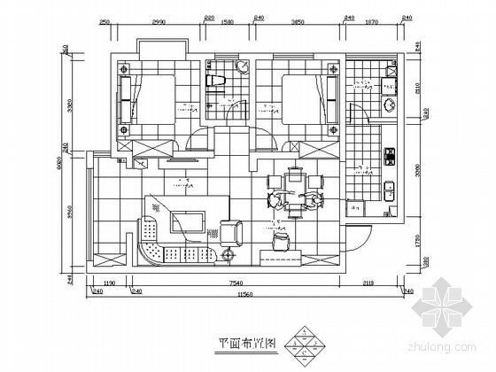 [湖南]某时尚经典两室两厅装修图