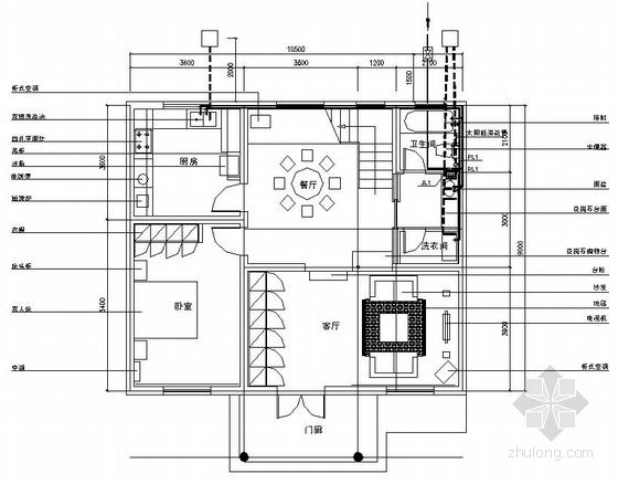 山西某二层住宅给排水设计图