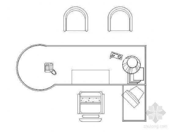 桌椅平面综合图块