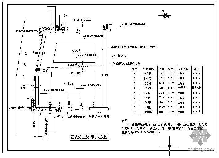 苏南地区某挖深9米基坑的土钉墙剖面图