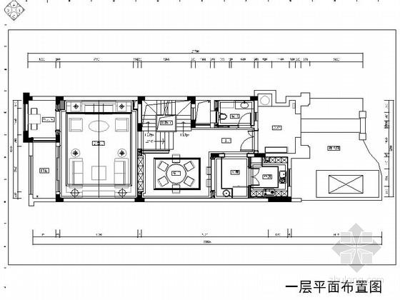 [重庆]三层现代欧陆风格别墅室内装修施工图