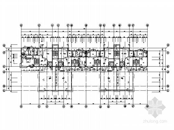 [深圳]古典风格城镇中心地块高层商住两用建筑施工图-古典风格城镇中心地块高层商住两用建筑平面图