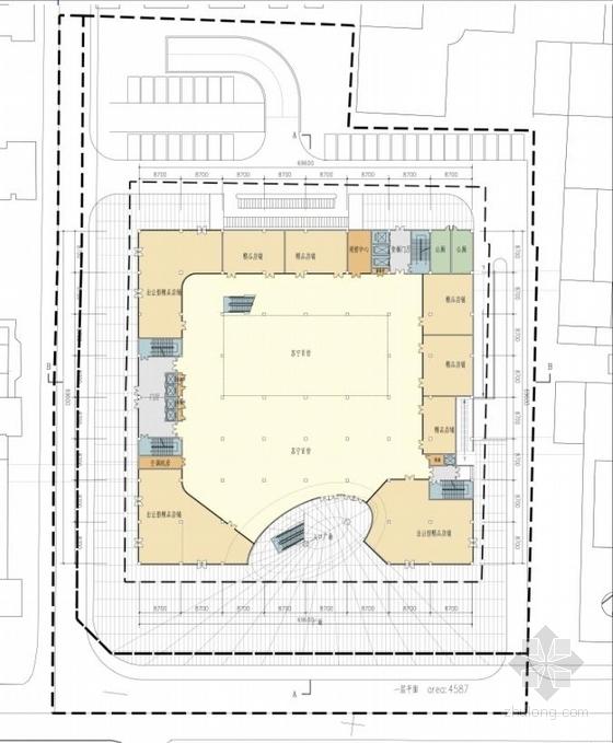 [山东]高层椭圆咬合型精品商业楼建筑设计方案文本-高层椭圆咬合型精品商业楼建筑平面图