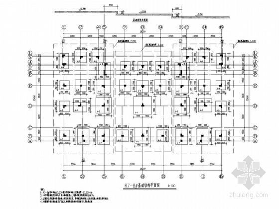 [江苏]两栋地上三层异形柱框架结构A型低层住宅结构施工图