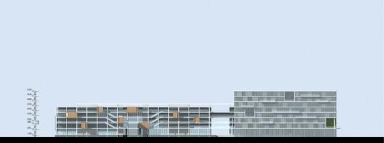 [海南]人民医院门诊楼及内科楼建筑设计方案文本-人民医院门诊楼及内科楼立面图