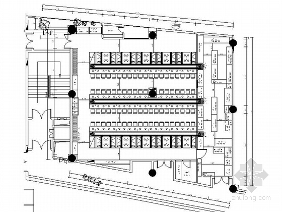 [长安]特色现代风格连锁自助旋转火锅店装修施工图(含效果及实景)