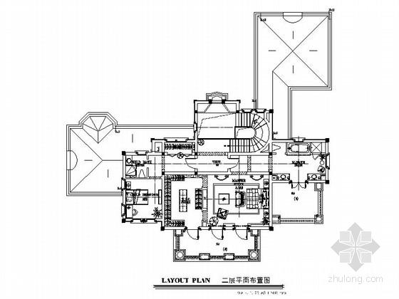 [北京]经典法式新古典两层别墅样板房施工图