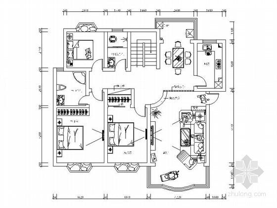 [抚州]某花园复式室内楼装修图