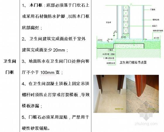 建筑工程厨房卫生间防渗漏作业指引手册