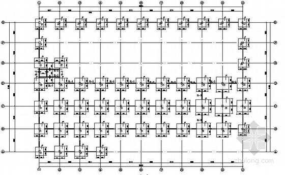 [武汉]多层门式刚架厂房建筑结构全套图纸(带夹层)