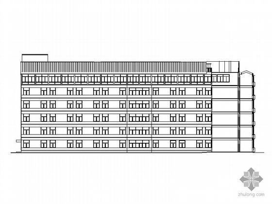 [湖南]某县人民医院六层住院楼建筑施工图(含效果图)
