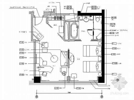 星级酒店标准客房装修设计图