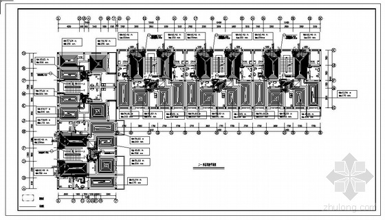 老年公寓地暖设计平面图