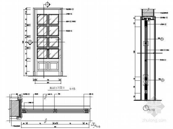 奢华法式别墅门CAD详图