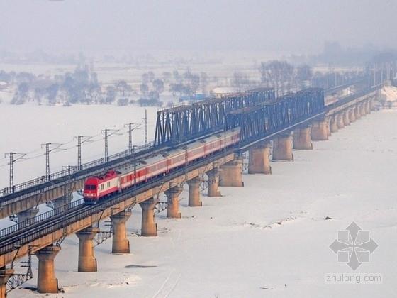 跨江铁路桥设计图纸(半钢构连续桥梁)