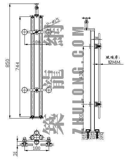 不锈钢点式栏杆扶手6