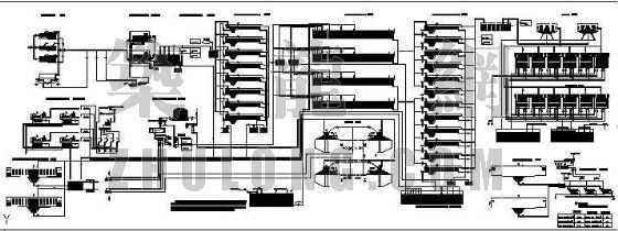 青岛市团岛污水处理厂平面图