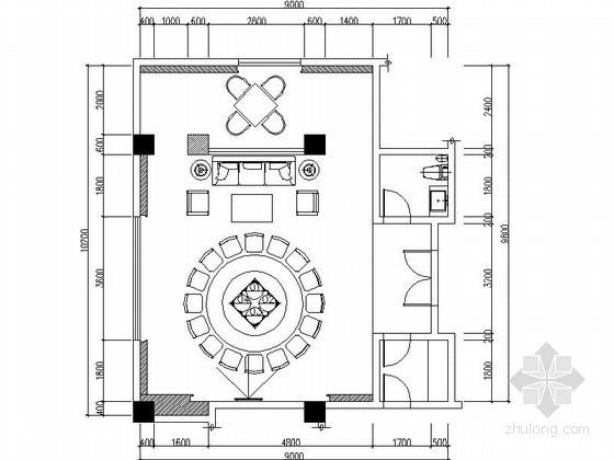 新中式私人会所包房装修详图