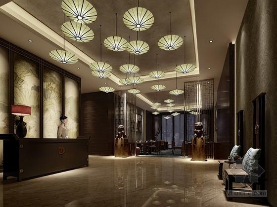 中式餐厅接待前台3d模型下载