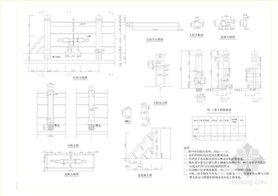 桥梁钢管栏杆CAD设计图含细部(33套)