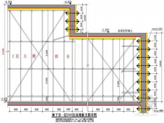 [江西]超高层办公楼地下室模板施工方案(散支散拆 木胶合板)