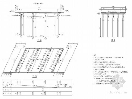 3x13m预应力空心板桥全套设计图(32张 柱式墩台 钻孔灌注桩)