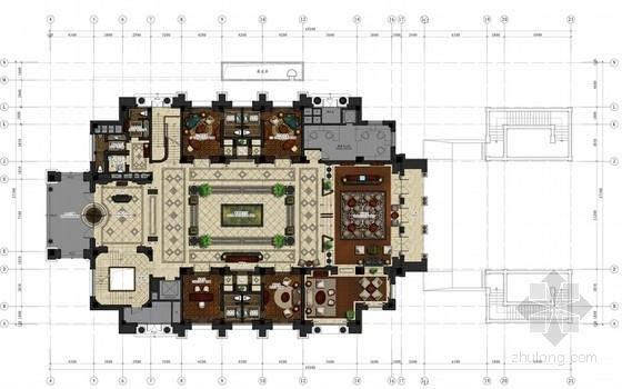 [上海]精品豪华现代风格会所室内设计方案
