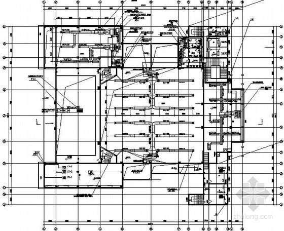 某影剧院空调通风设计图纸(风冷热泵系统)