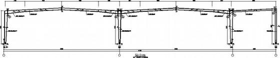 68米跨门式刚架带夹层结构施工图