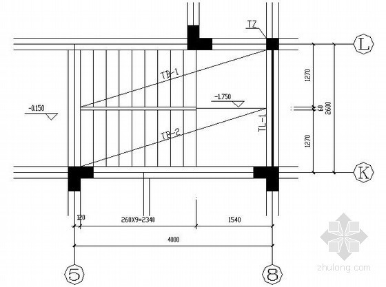 框架别墅楼梯节点构造详图