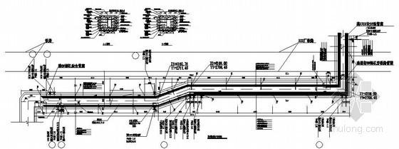 纵梁式及桁架式管廊结构大样图