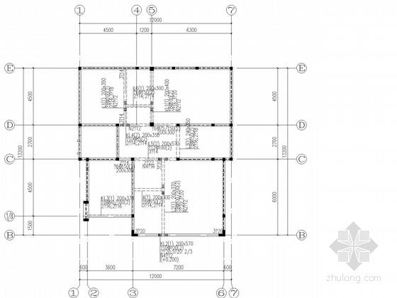 四层砖混局部框架住宅结构施工图